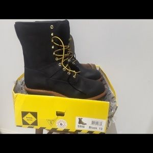 """Black Boots New Brand Zone"""" Nwt """"work Work Leather"""